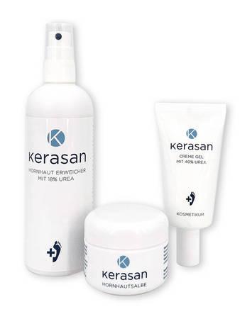 Zestaw preparatów Kerasan maść + żel + spray (1)