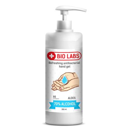 Bio Labs żel antybakteryjny do rąk, 300 ml (1)
